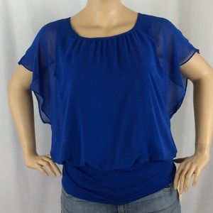 JM Collection Banded Bottom Blouse 205D